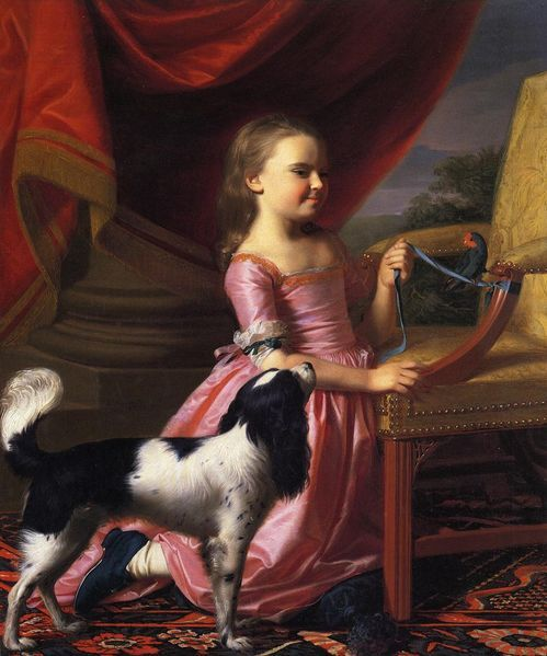 030416 girl with dog and parrot
