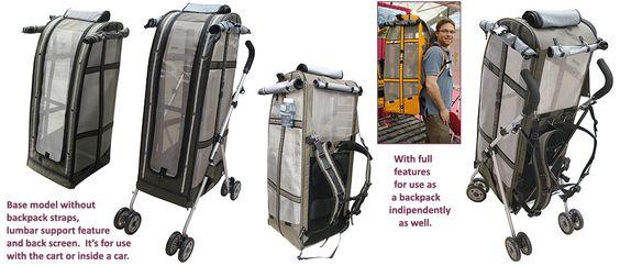 051916 backpack and stroller